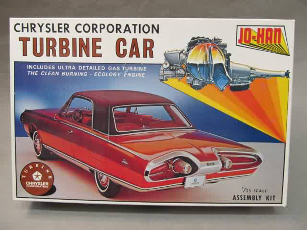 This the legendary Chrysler Turbine Car kit by JoHan.  It was a shock to the hobby in 1964 because of its incredible level of detail, which also made it very difficult to assemble well.