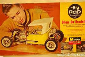 These 1/8 scale vintage American hot rod kits by Monogram were of extraordinary quality and accuracy. We're going to pick up the artistic styles, fonts, box lid layout and the like for the Big Predicta.